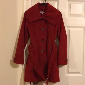 ❤️ Red ❤️ Kenneth Cole Pea/Trench Coat